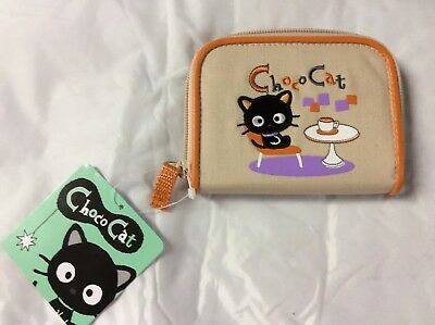 Sanrio Chococat Half Zip Wallet Kitty Cafe Theme New With Tags 2004