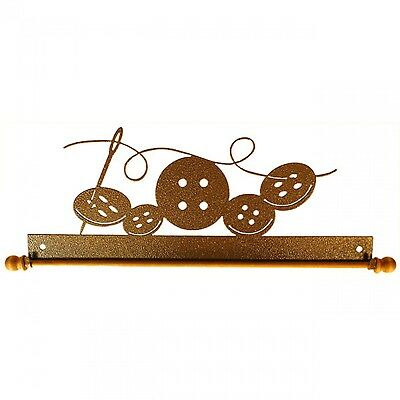 BUTTONS & NEEDLE, 12 INCH QUILT HANGER WITH ROD, From Ackfeld Manufacturing NEW