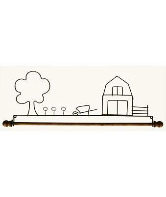 FARM YARD, 12 INCH QUILT HANGER WITH ROD, From Ackfeld Manufacturing NEW