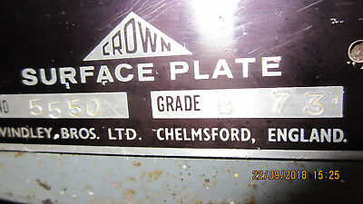 Engineers Surface Plate 18 X 18 Inches, Made By Crown in Chelmsford