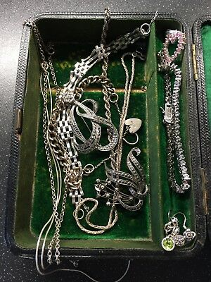 Job Lot Of Vintage Silver Items Spares Or Repairs