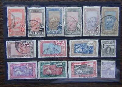 Tunisia Parcel Post 1906 values to 2F 1926 vals to 4F 1923 Postage Dues 60c Used