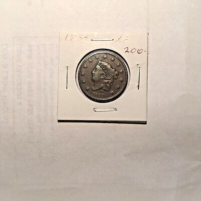 1833 XF Large Cent