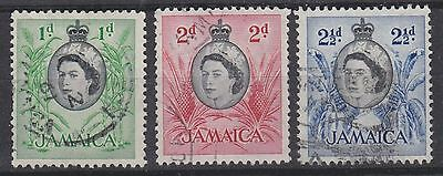 Jamaica, 1956, selection,  SG160-162, Sc160-162, used.