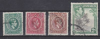 Jamaica, 1938, selection,  SG121-124, Sc116-119, used.