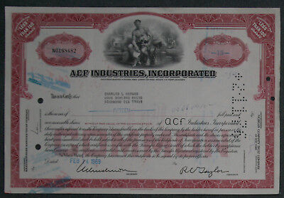 ACF Industries, Incorporation 1969 15 Shares .