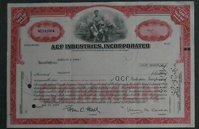 ACF Industries, Incorporation 1974 11 Shares .