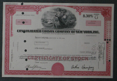 Consolidated Edison Company of New York, Inc. Preferred Stock 1977 10 Share .