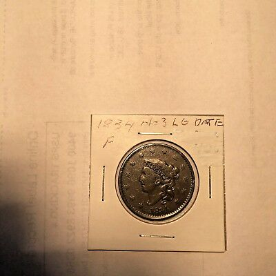 1834 F Lg Date Large Cent