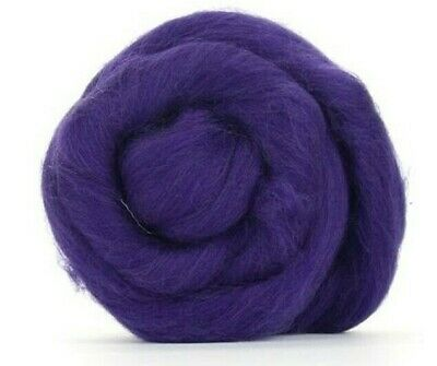 Purple Merino Wool dyed Fibre roving / tops - 50g - wet felting needle felting