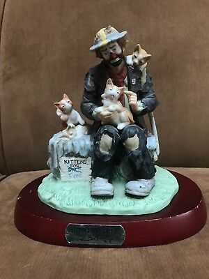 Collectible Emmett Kelly Jr Kittens For Sale Limited Edition Figurine