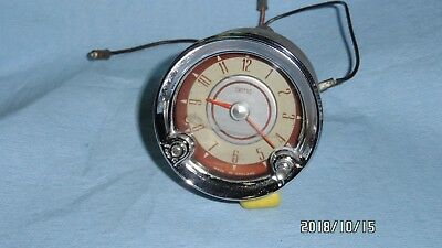 Austin Mg Jaguar Smiths Electric Dash Clock - Looks Good - Not Working (+Ground)