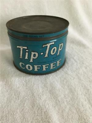 Vintage Tip-Top Coffee Can With Originalo Lid Dwinell-Wright-Company Boston Mass