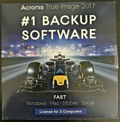 Acronis True Image 2017 - 3 Devices - for PC / Mac / Mobile - #1 Backup Software