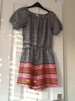 Very Pretty Girls Riverisland Playsuit Age 9-10 Worn Once Excellent Condition