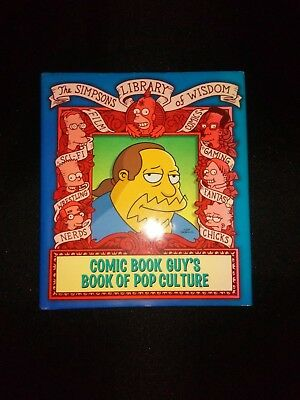 Comic Book Guy's Book of Pop Culture The Simpsons Hardback Book (2005)