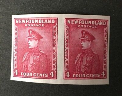 Newfoundland Stamp #189a Imperf Pair MNH