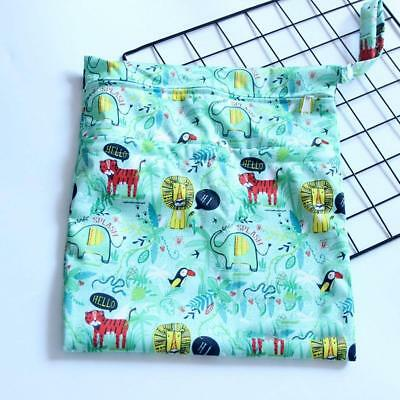 30*36cm Infant Waterproof Zip Wet Dry Bag Baby Cloth Diaper Nappy Pouch Reusable