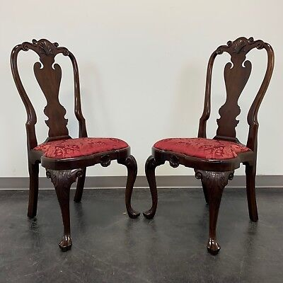 STICKLEY Williamsburg Queen Anne Mahogany Dining Side Chairs - Pair 1