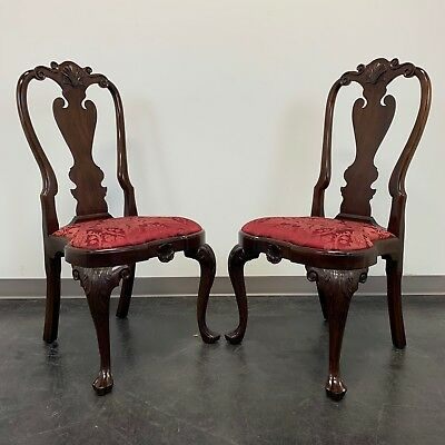 STICKLEY Williamsburg Queen Anne Mahogany Dining Side Chairs - Pair 2