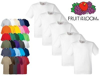 1x 2x 3x 10x Fruit Of The Loom Mens Boys Girls TShirts Plain 100% Cotton Uniform