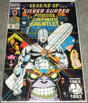 What If #49 Silver Surfer Possessed Infinity Gauntlet NM High Grade