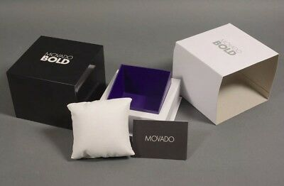 Brand New 100% Authentic Movado Bold Watch Gift Box W/ Manual & Warranty Booklet
