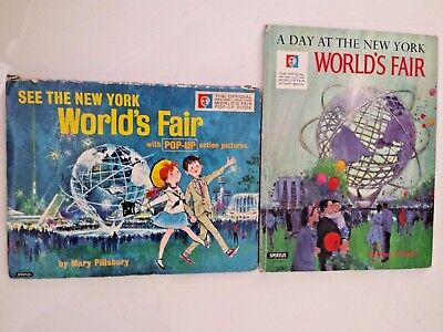 Official 1964-1965 NEW YORK WORLD'S FAIR  Pop-Up Book and Story Book