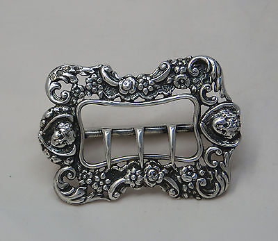 Victorian Silver Buckle Decorated With Cherub's Heads & Flowers - Belt Buckle ?