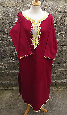 Ex Theatre Stock - Red Robe Kaftan Or Similar  -  Re-Enactment / Fancy Dress A/f