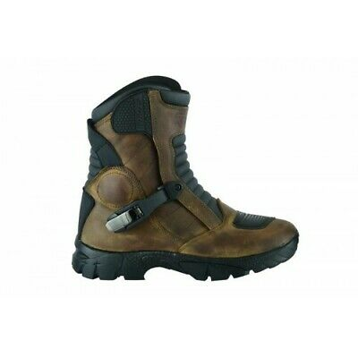 Motorbike Storm Adventure Waterproof Motorcycle Boots Touring 100% Real Leather