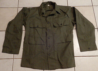 Original 1943 Dated Us Army Herringbone Twill Hbt Shirt, 13 Star Buttons Size 36