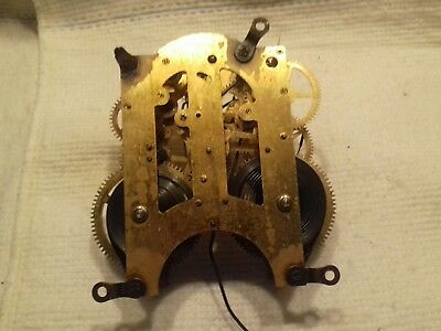 Antique Clock Movement Brass Ansonia New York Usa 1882 Part Spares 5 1/2