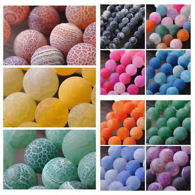 Wholesale 6mm 8mm 10mm Natural Stone Agate Round Loose Spacer Beads Findings