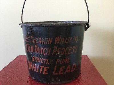Sherwin Williams Old Dutch Process White Lead metal tin can with lid