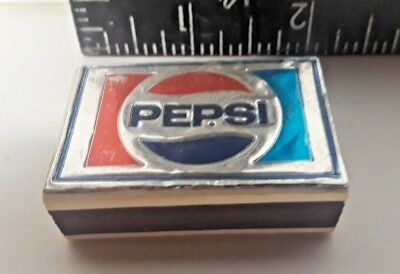 Vintage 1970's Box of Wood Matches Pepsi-Cola Made in Italy