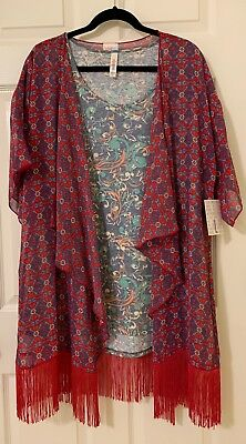 New LuLaRoe Outfit! Extra Large Classic Tee With A Large Monroe Kimono!