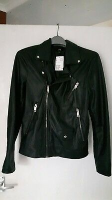 H&M Mens Faux Leather Jacket BNWT