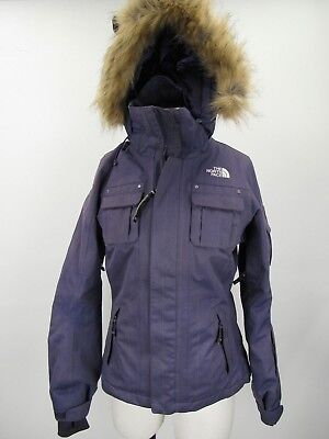 bf8d91f91539 The North Face Baker Deluxe Purple Faux Fur Hood Hyvent Insulated Ski Coat  XS