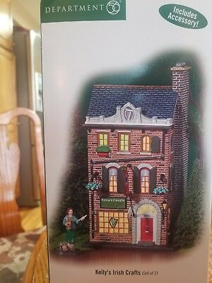 "Department 56 ""Kelly's Irish Crafts"" Christmas In The City #59216 in box"