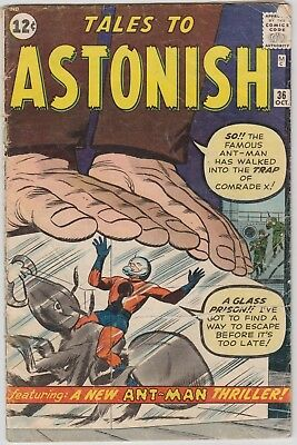 TALES TO ASTONISH #36, ANT-MAN , cents issue