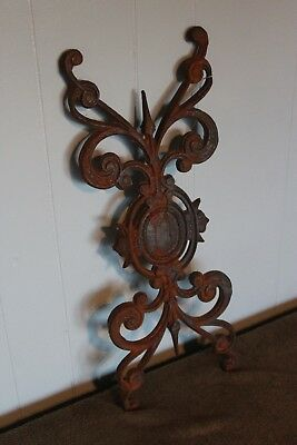 Victorian Cast Iron Ornate Fence or Gate Panel Antique Architectural