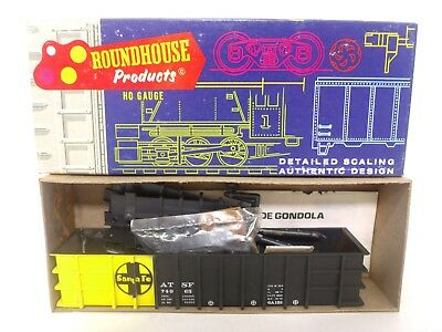 Roundhouse HO ATSF Santa Fe 50' Thrall Gondola Freight Train Car Kit 1652 LOOK
