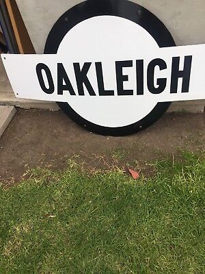 Oakleigh Enamel Train Station Sign Genuine Large Size