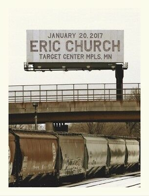 Eric Church 1/20/17 Poster Target Minneapolis Minnesota Signed & Numbered 36/145