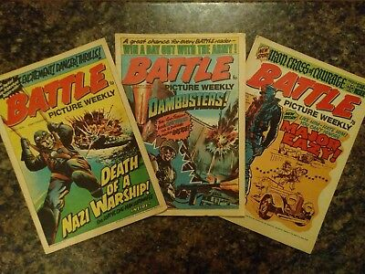 Battle Picture Weekly, 3 comic bundle, May 1975 - January 1976