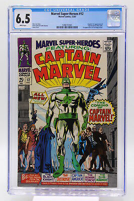 Marvel Super-Heroes #12 CGC 6.5 Origin and 1st Appearance of Captain Marvel
