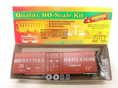 Roundhouse HO WM Western Maryland 50' Hi-Cube Plug Door Train Box Car Kit 01770