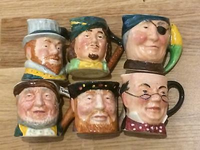 Lancaster Sandland Ware Character Jug Hand Painted Hanley Collectable Lot of 6