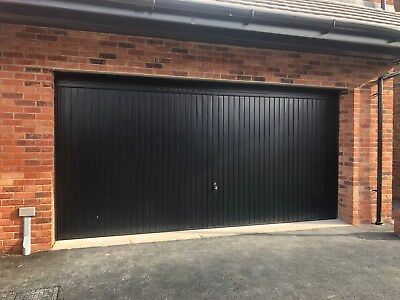 Black Double Hormann Garage door